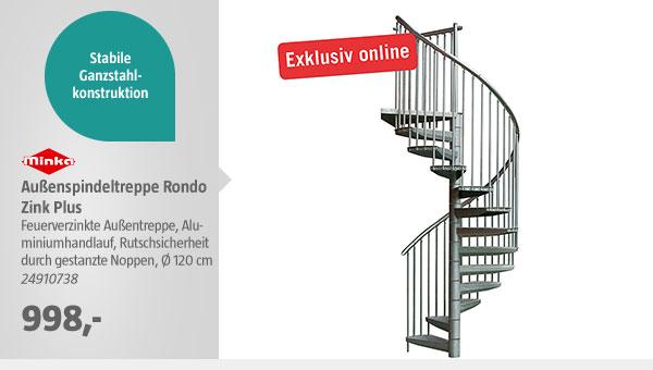 Außenspindeltreppe Rondo Zink Plus