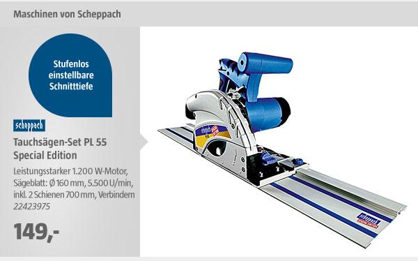 Scheppach Tauchsägen-Set PL 55 Special Edition