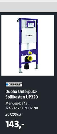 Geberit Duofix Unterputz-Spülkasten UP320